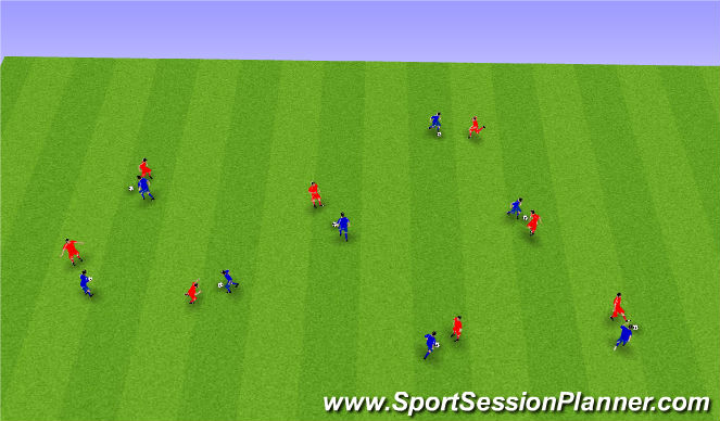 Football/Soccer Session Plan Drill (Colour): Upphitun1.