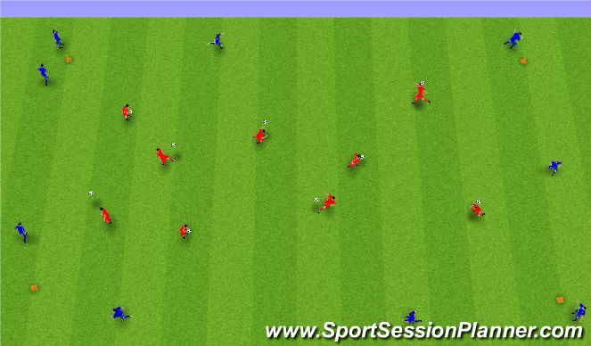 Football/Soccer Session Plan Drill (Colour): Upphitun 2.