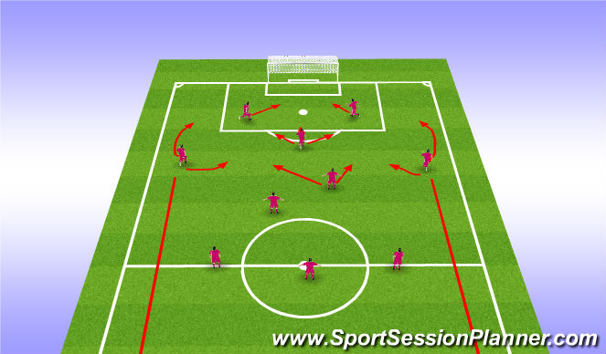 Football/Soccer Session Plan Drill (Colour): CHEVY Attacking