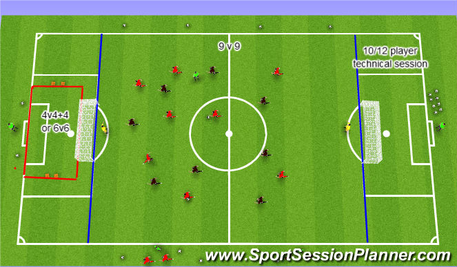 Football/Soccer Session Plan Drill (Colour): 2002 boys Assessment Overview.