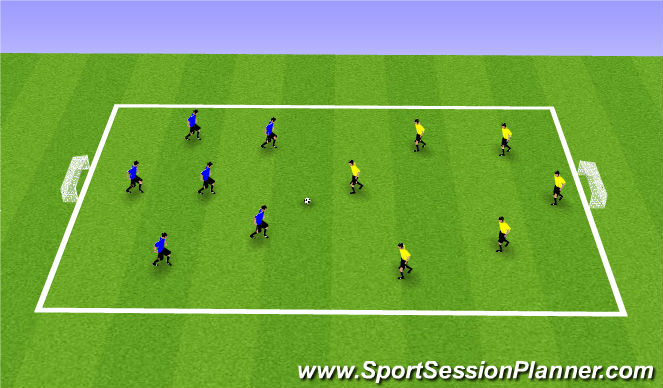 Football/Soccer Session Plan Drill (Colour): SSG (30mins)