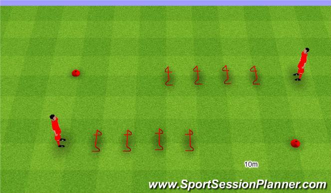 Football/Soccer Session Plan Drill (Colour): Jumping drill. Skoki