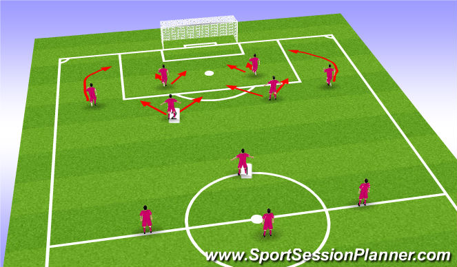 Football/Soccer Session Plan Drill (Colour): FORD Diamond Attacking
