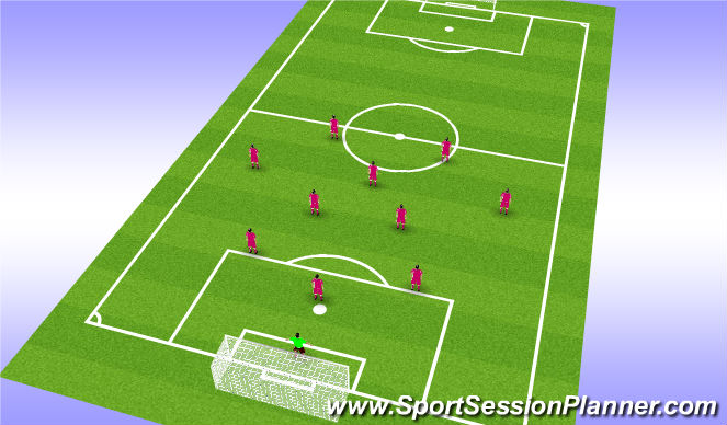 Football/Soccer Session Plan Drill (Colour): CHEVY Neutral