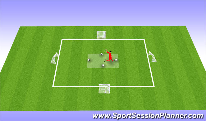 Football/Soccer Session Plan Drill (Colour): Shoot Challenge