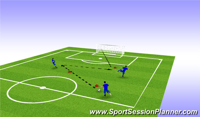 Football/Soccer Session Plan Drill (Colour): Techical Work in Air