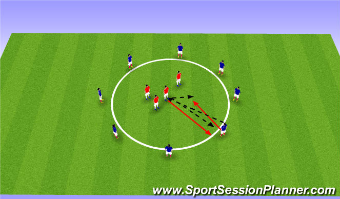 Football/Soccer Session Plan Drill (Colour): Give N Go