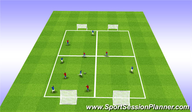 Football/Soccer Session Plan Drill (Colour): U12 - U13 SSG: Ball Retention