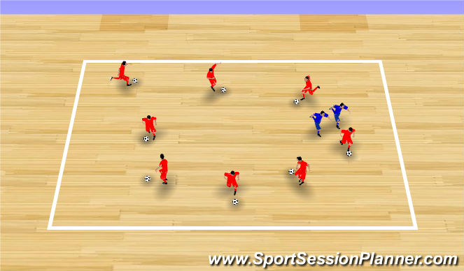 Futsal Session Plan Drill (Colour): Spider Tag