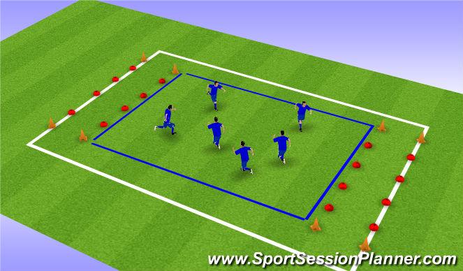 Football/Soccer Session Plan Drill (Colour): Vliegtuigje