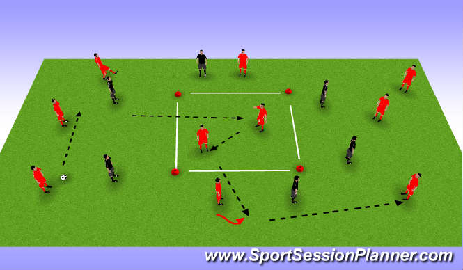 Football/Soccer Session Plan Drill (Colour): Possession :box