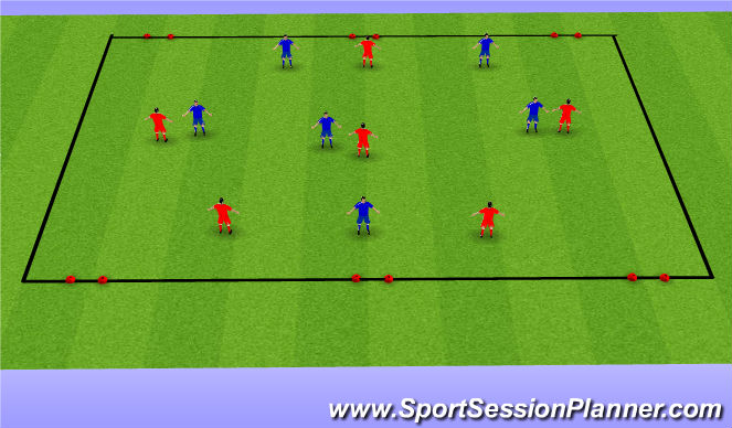 Football/Soccer Session Plan Drill (Colour): Ex small sided