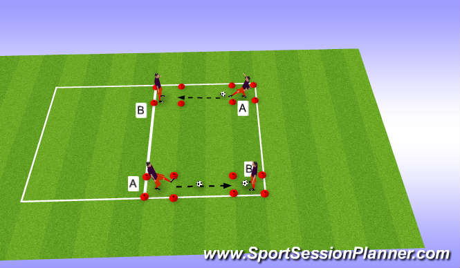Football/Soccer Session Plan Drill (Colour): Control-golpeo
