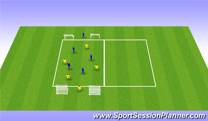 Football/Soccer Session Plan Drill (Colour): Short suport and depth suport 3
