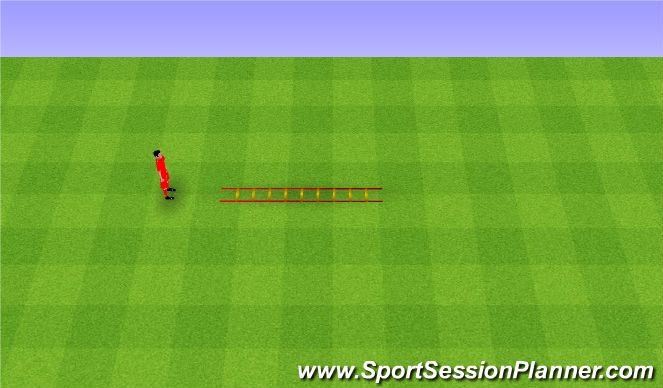Football/Soccer Session Plan Drill (Colour): Coordination. Koordynacja.