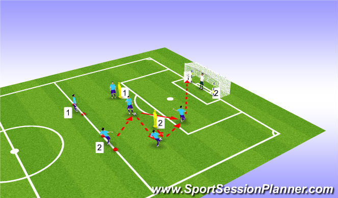 Football/Soccer Session Plan Drill (Colour): Set-up & Technical