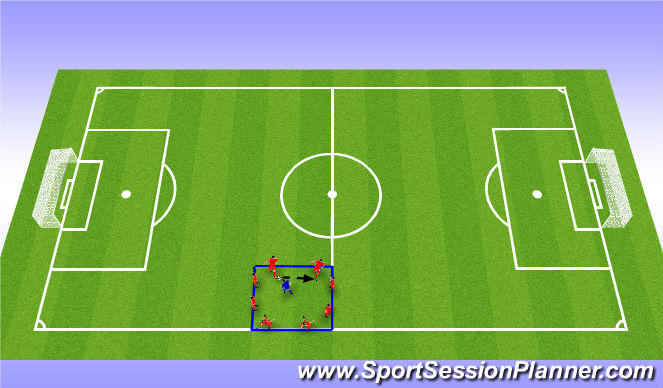 Football/Soccer Session Plan Drill (Colour): Rondos (5-10 mins)