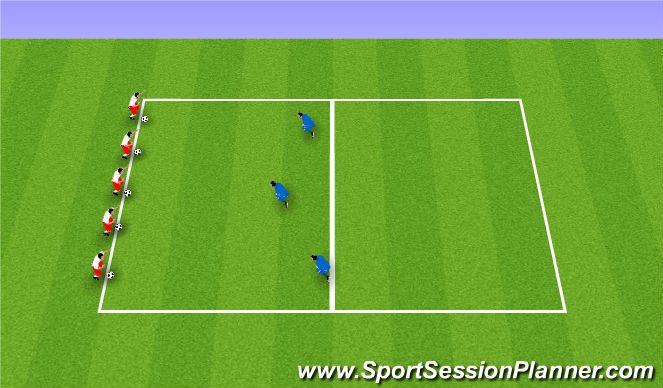 Football/Soccer Session Plan Drill (Colour): Crabs on the beach.