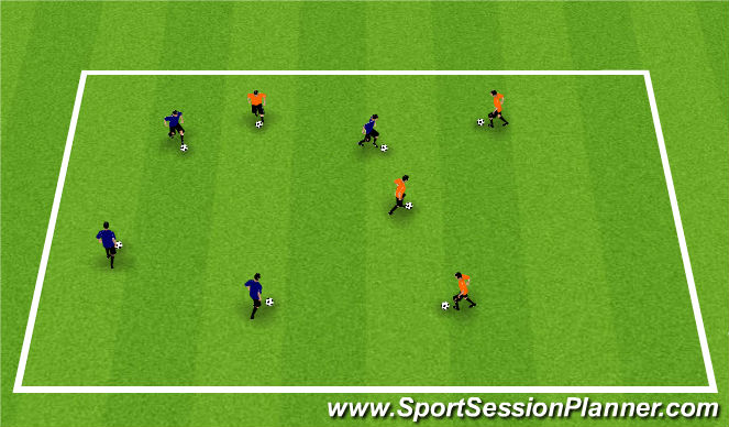 Football/Soccer Session Plan Drill (Colour): Taggy Tag Tag