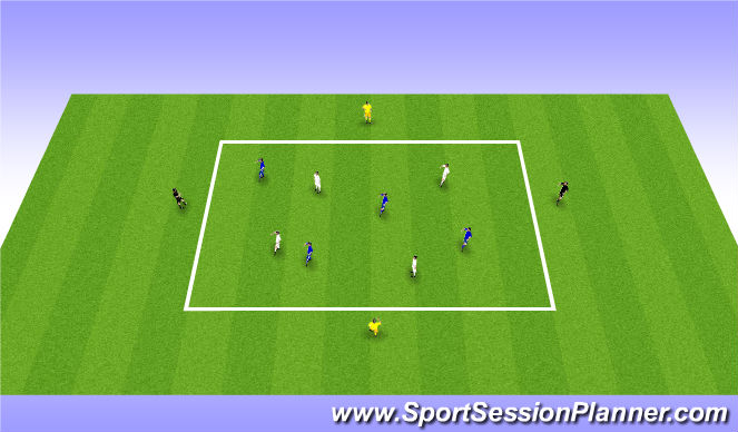 Football/Soccer Session Plan Drill (Colour): Combine to go Forward