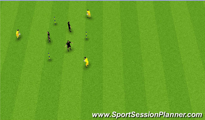 Football/Soccer Session Plan Drill (Colour): Handling Warm-up
