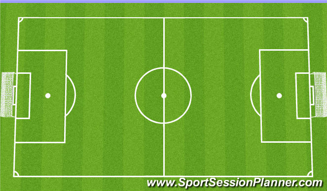 Football/Soccer Session Plan Drill (Colour): 11v11 Game