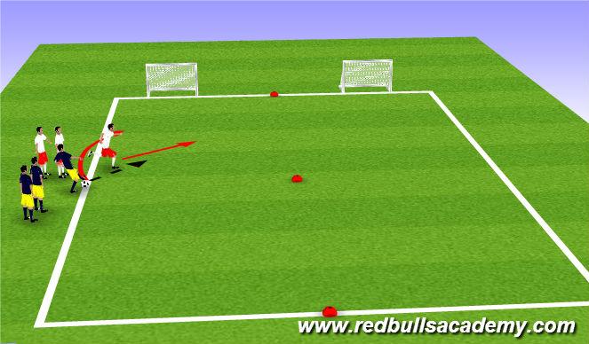 Football/Soccer Session Plan Drill (Colour): Full Opposition