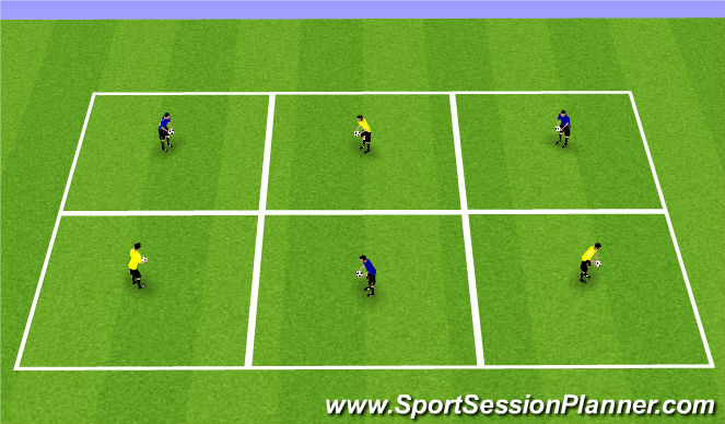 Football/Soccer Session Plan Drill (Colour): Juggling Competition