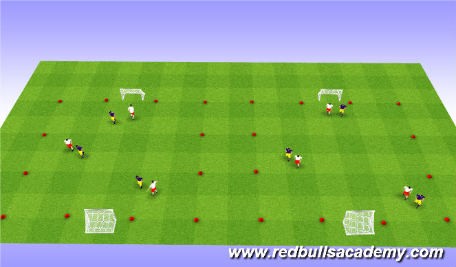 Football/Soccer Session Plan Drill (Colour): 3v3 Tournement