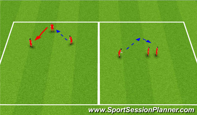 Football/Soccer Session Plan Drill (Colour): Heading Game