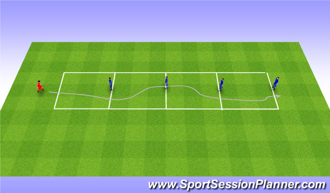 Football/Soccer Session Plan Drill (Colour): Dribbling game. Gra z dryblingiem.