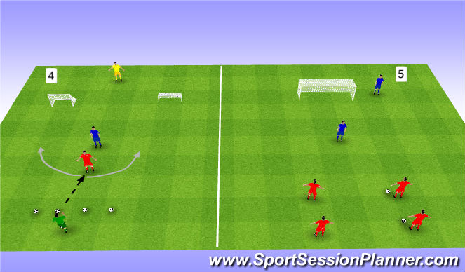 Football/Soccer Session Plan Drill (Colour): Interval games. Gry interwałowe.