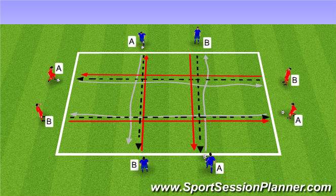 Football/Soccer Session Plan Drill (Colour): Rozgrzewka. Warm up (10')