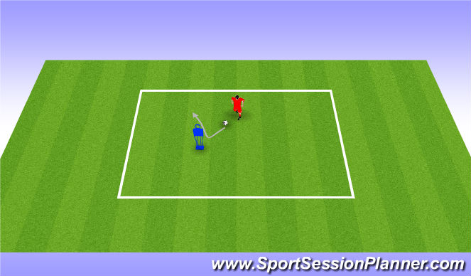 Football/Soccer Session Plan Drill (Colour): Turns. Zwody (10')