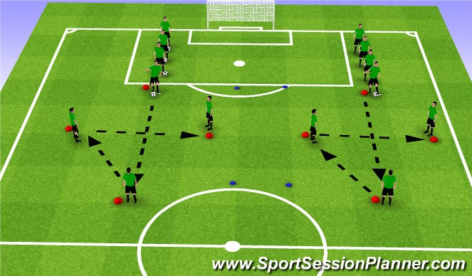 Football/Soccer Session Plan Drill (Colour): PP