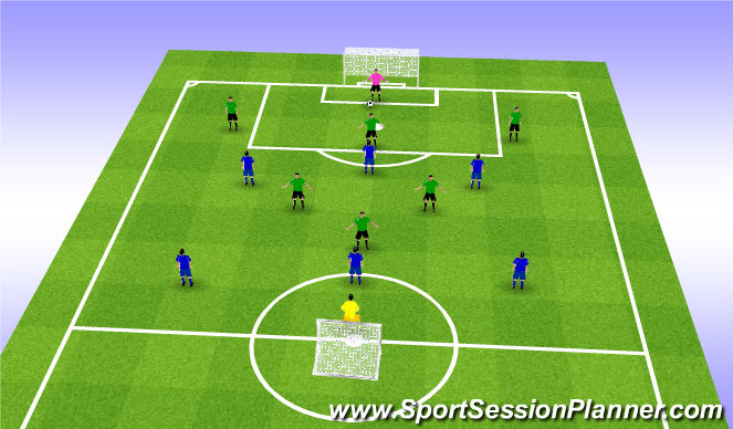 Football/Soccer Session Plan Drill (Colour): Football Conditioning