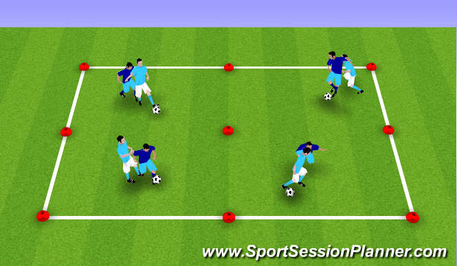 Football/Soccer Session Plan Drill (Colour): Technical Shielding