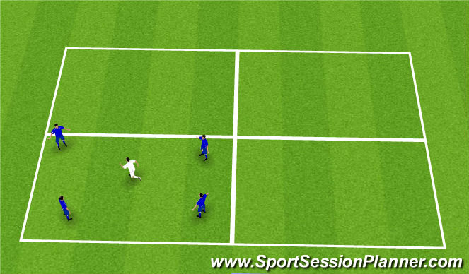Football/Soccer Session Plan Drill (Colour): Rondo, extended warmup