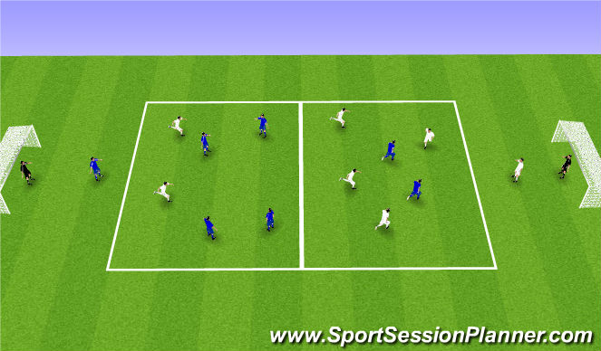 Football/Soccer Session Plan Drill (Colour): Target combinations