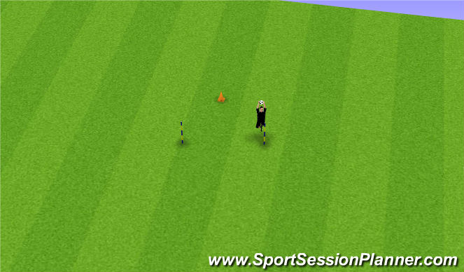Football/Soccer Session Plan Drill (Colour): High Handling Warm-up