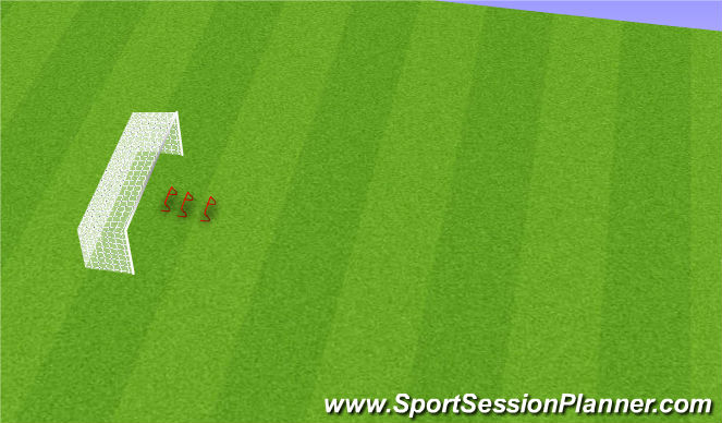 Football/Soccer Session Plan Drill (Colour): Crossing and Jumping