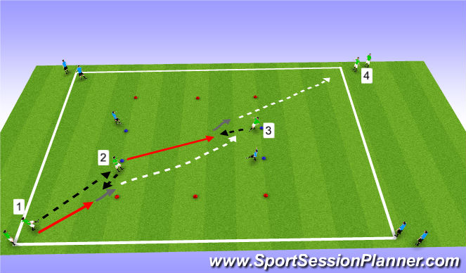 Football/Soccer Session Plan Drill (Colour): Pattern Play II