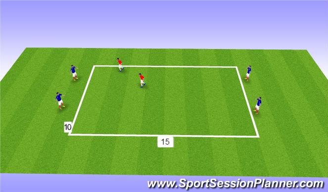 Football/Soccer Session Plan Drill (Colour): Cover Split