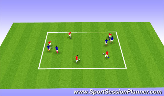 Football/Soccer Session Plan Drill (Colour): Hunting in pairs