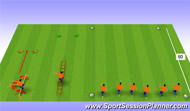 Football/Soccer Session Plan Drill (Colour): Strength