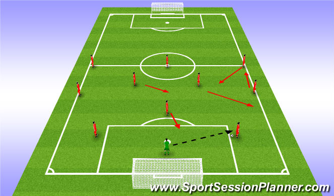 Football/Soccer Session Plan Drill (Colour): Ball to CBs