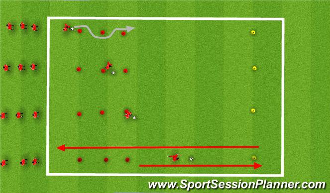 Football/Soccer Session Plan Drill (Colour): Dribble / RWB Race