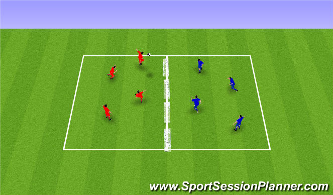 Football/Soccer Session Plan Drill (Colour): Skallatennis