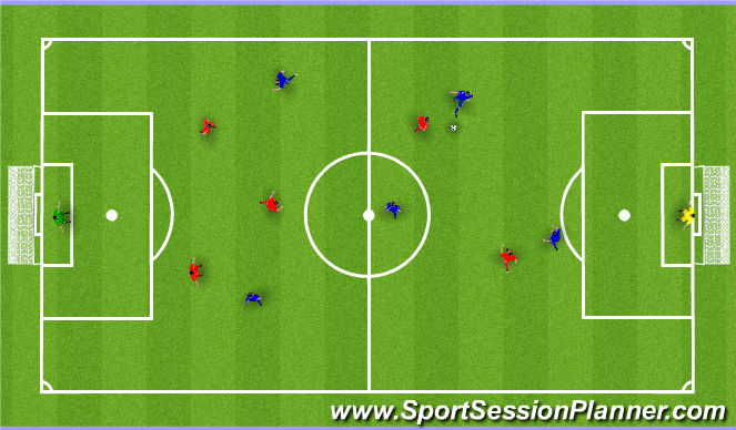 Football/Soccer Session Plan Drill (Colour): Spil