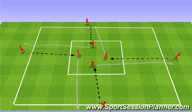 Football/Soccer Session Plan Drill (Colour): Warm up. Rozgrzewka (20').